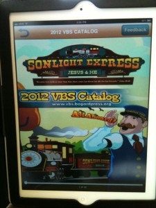 Screenshot of VBS catalog on iPad