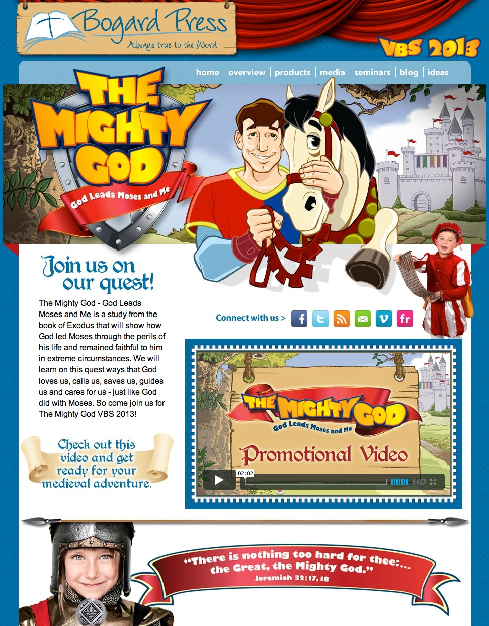 Screenshot of VBS 2013 website
